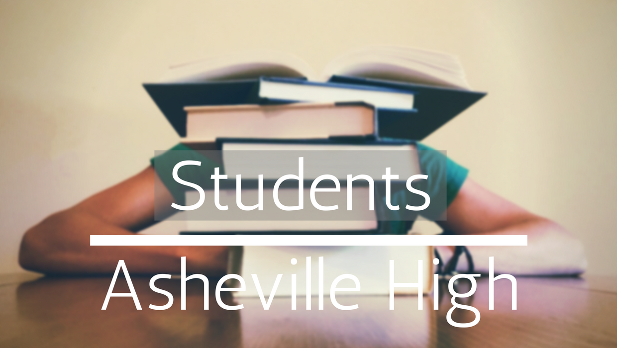 Student Website Banner (TEXT: Students, Asheville High)