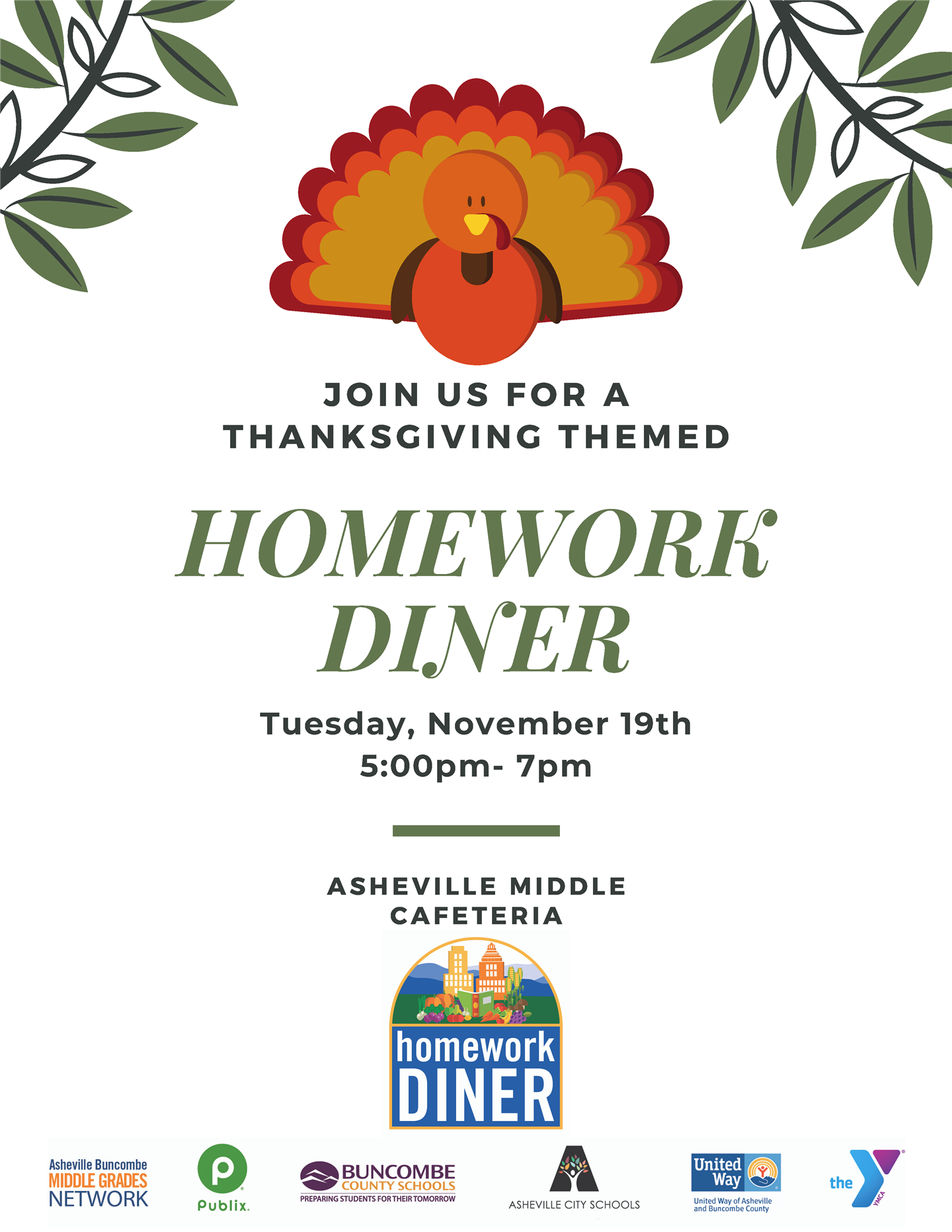 Thanksgiving Dinner announcement