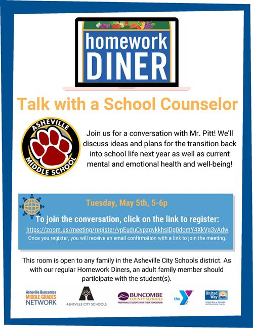 talk with a school counselor flyer
