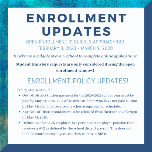 Enrollment Updates