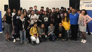 Asheville Middle AVID Students Meet Presidential Medal of Freedom Recipient Sylvia Mendez